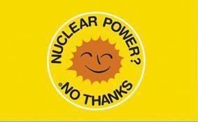 Flagge Fahne Atomkraft nein Danke! englisch - Vorschau