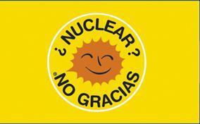 Flagge Fahne Atomkraft Nein Danke! spanisch - Vorschau