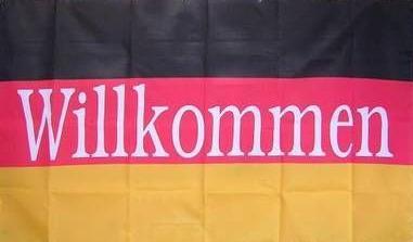 Flagge Fahne Deutschland Willkommen 90 x 150 cm - Vorschau