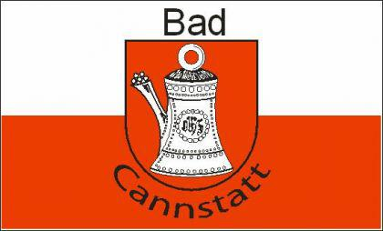 Flagge Fahne Bad Cannstadt 90 x 150 cm