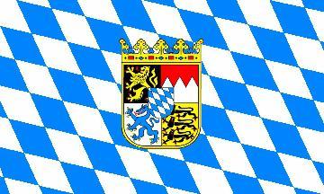 Flagge Fahne Bayern Wappen 90 x 150 cm
