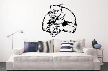 Wandtattoo Bear with Skull