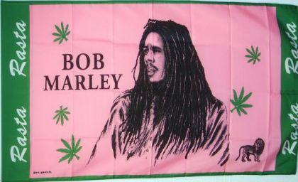Flagge Fahne Bob Marley rosa 90 x 150 cm - Vorschau