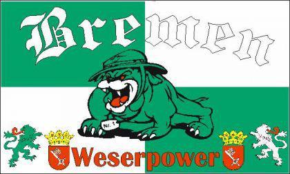 Flagge Fahne Bremen Weserpower 90 x 150 cm