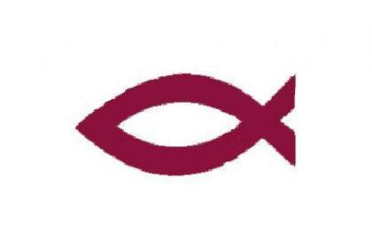 Flagge Fahne Christen Fisch 90 x 150 cm