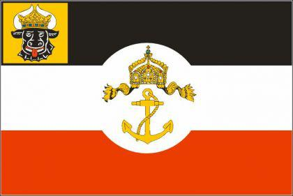 Flagge Fahne D. Mecklenburg-Schwerin 90 x 150 cm