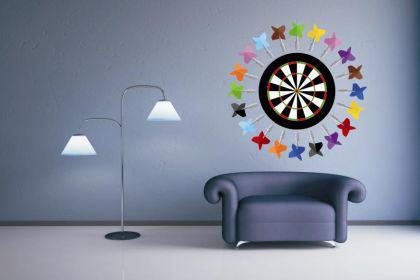 wandtattoo dartboard mit pfeilen kaufen bei. Black Bedroom Furniture Sets. Home Design Ideas