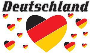 Flagge Fahne Deutschland Fan 13 90 x 150 cm - Vorschau