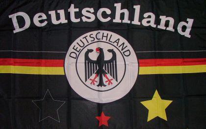 Flagge Fahne Deutschland Fan schwarz 90 x 150 cm