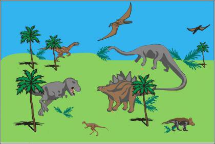 Flagge Fahne Dinosaurier 90 x 150 cm - Vorschau