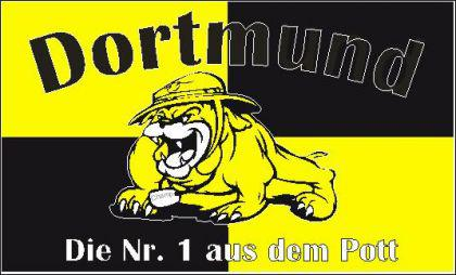 Flagge Fahne Dortmund Nr. 1 a d Pott 90 x 150 cm - Vorschau