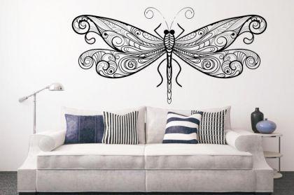 wandtattoo dragonfly kaufen bei. Black Bedroom Furniture Sets. Home Design Ideas