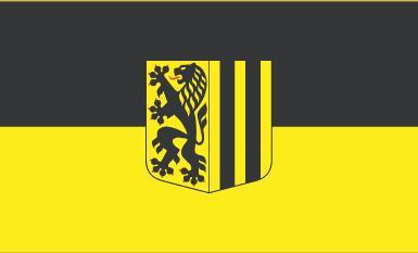 Flagge Fahne Dresden 90 x 150 cm - Vorschau