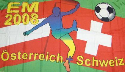 Flagge Fahne EM 2008 90 x 150 cm - Vorschau