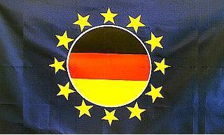Flagge Fahne Europa BRD rund 90 x 150 cm - Vorschau
