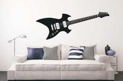 wandtattoo e gitarre kaufen bei. Black Bedroom Furniture Sets. Home Design Ideas