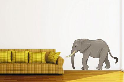 wandtattoo elefant color kaufen bei. Black Bedroom Furniture Sets. Home Design Ideas