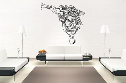 wandtattoo engel mit posaune motiv nr 1 kaufen bei. Black Bedroom Furniture Sets. Home Design Ideas