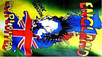 Flagge Fahne England Exploded 90 x 150 cm