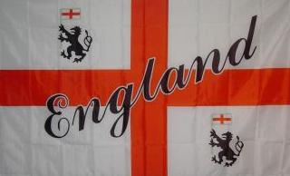Flagge Fahne England Schrift schräg 90 x 150 cm