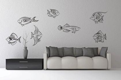 wandtattoo fische set motiv nr 1 kaufen bei. Black Bedroom Furniture Sets. Home Design Ideas
