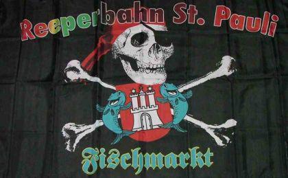 Flagge Fahne Reeperbahn Fischmarkt 90 x 150 cm
