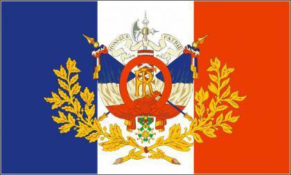 Flagge Fahne Frankreich histor. Wappen 90 x 150 cm - Vorschau