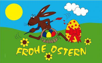 Flagge Fahne Frohe Ostern III 90 x 150 cm