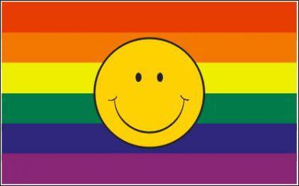 Flagge Fahne Gay Smily 90 x 150 cm