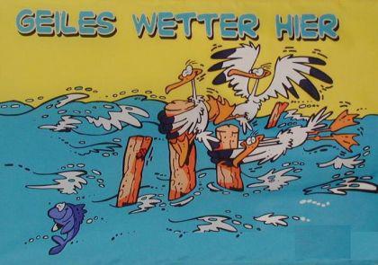 Flagge Fahne Geiles Wetter Möwe 90 x 150 cm - Vorschau