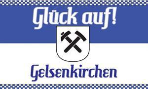 Flagge Fahne Gelsenkirchen Glückauf 90 x 150 cm - Vorschau