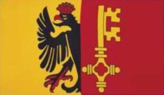 Flagge Fahne Genf 90 x 150 cm - Vorschau