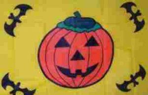 Flagge Fahne Halloween gelb 90 x 150 cm - Vorschau