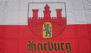 Flagge Fahne Hamburg Harburg alt 90 x 150 cm