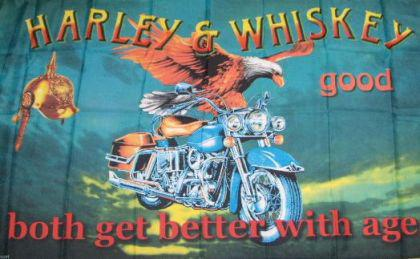 Flagge Fahne Harley & Whisky 90 x 150 cm
