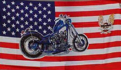 Flagge Fahne USA Harley mit Adler 90 x 150 cm - Vorschau