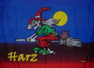 Flagge Fahne Harz Hexe 90 x1 50 cm - Vorschau