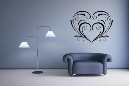wandtattoo herz motiv nr 3 kaufen bei. Black Bedroom Furniture Sets. Home Design Ideas