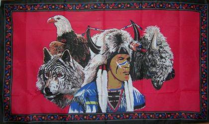 Flagge Fahne Indianer Buffalo 90 x 150 cm