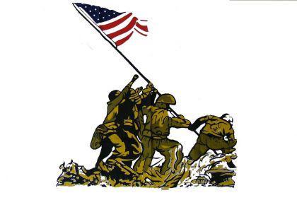 Flagge Fahne Iwo Jima 90 x 150 cm - Vorschau