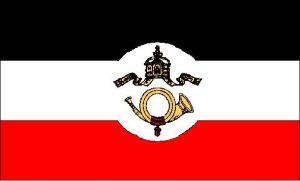 Flagge Fahne Kaiserliche Reichspost 90 x 150 cm - Vorschau