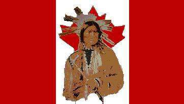 Flagge Fahne Kanada Indianer 90 x 150 cm