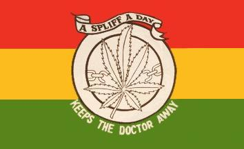 Flagge Fahne Hanf Keep the Doctor 90 x 150 cm