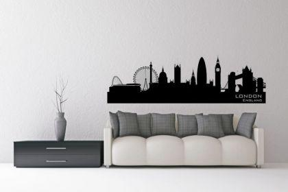 wandtattoo london skyline kaufen bei. Black Bedroom Furniture Sets. Home Design Ideas
