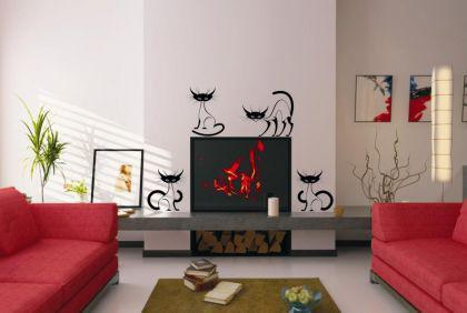 wandtattoo katzen g nstig online kaufen bei yatego. Black Bedroom Furniture Sets. Home Design Ideas