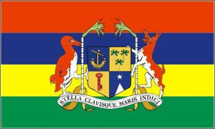 Flagge Fahne Mauritius mit Wappen 90 x 150 cm - Vorschau