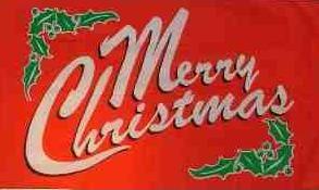 Flagge Fahne Merry Christmas rot 90 x 150 cm