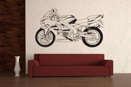 wandtattoo motorrad motiv nr 2 kaufen bei. Black Bedroom Furniture Sets. Home Design Ideas