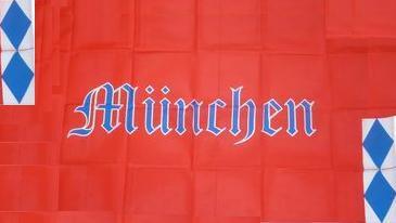 Flagge Fahne München Schrift 90 x 150 cm