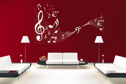 Wandtattoo Musiknoten Motiv Nr. 1